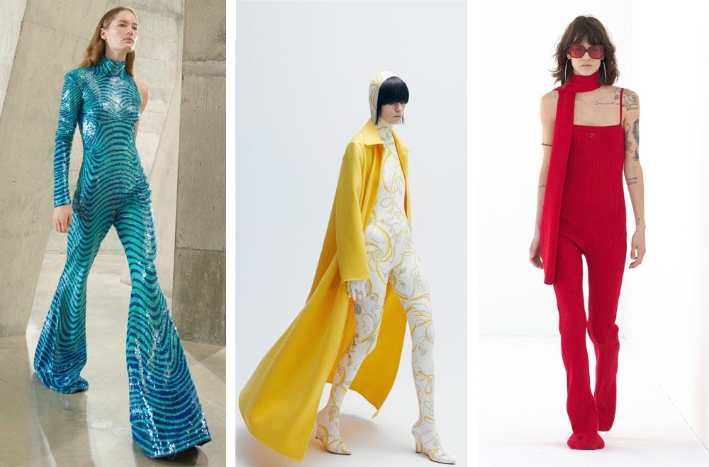 Дълги цветни гащеризони, които покриват обувките са сред модните тенденции на Vogue за autumn winter 2021 2022
