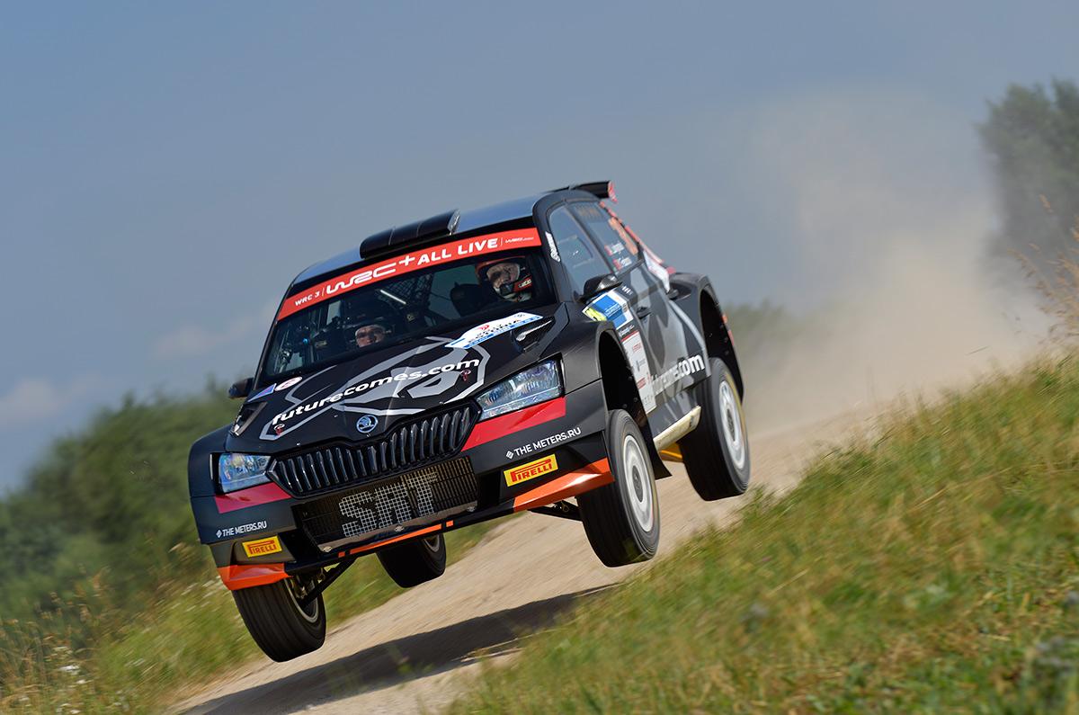 Алексей Лукьянюк и Ярослав Федоров, Skoda Fabia Rally2 evo, ралли Эстония 2021