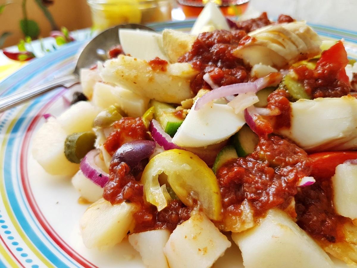 Картофельный салат по-тунисски. Вкусный Израиль.