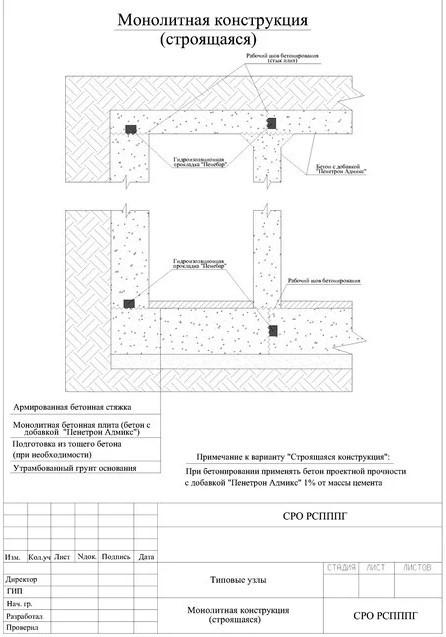 монолитная конструкция (строящаяся)