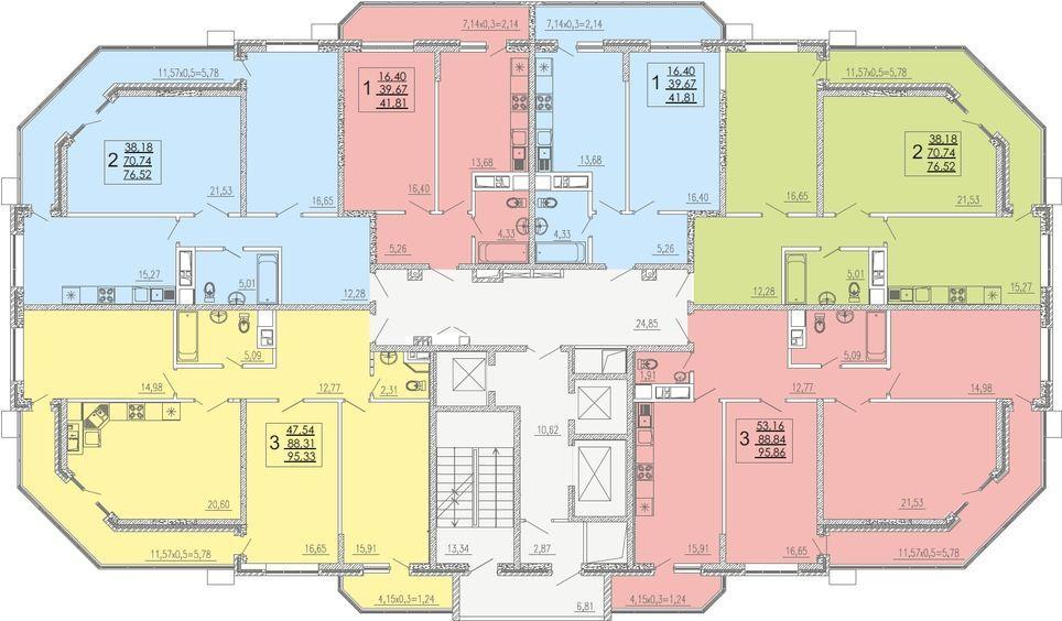 Планировки квартир ЖК На Высоте