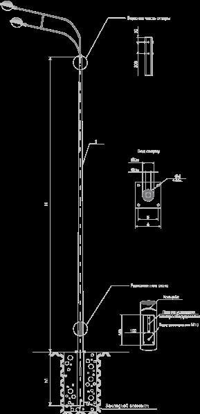 Опоры несиловые фланцевые круглоконические тип НФК