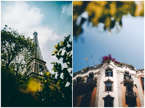 Париж и Барселона в марте