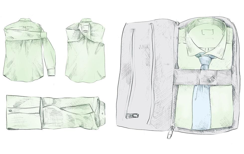 Gant, как правильно сложить рубашку для хранения и транспортировки