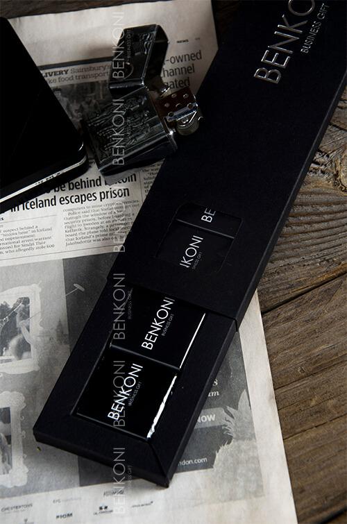 Набор-линейка шоколада в премиальной упаковке с тиснением фольгой логотипа - Line на 14 плиток