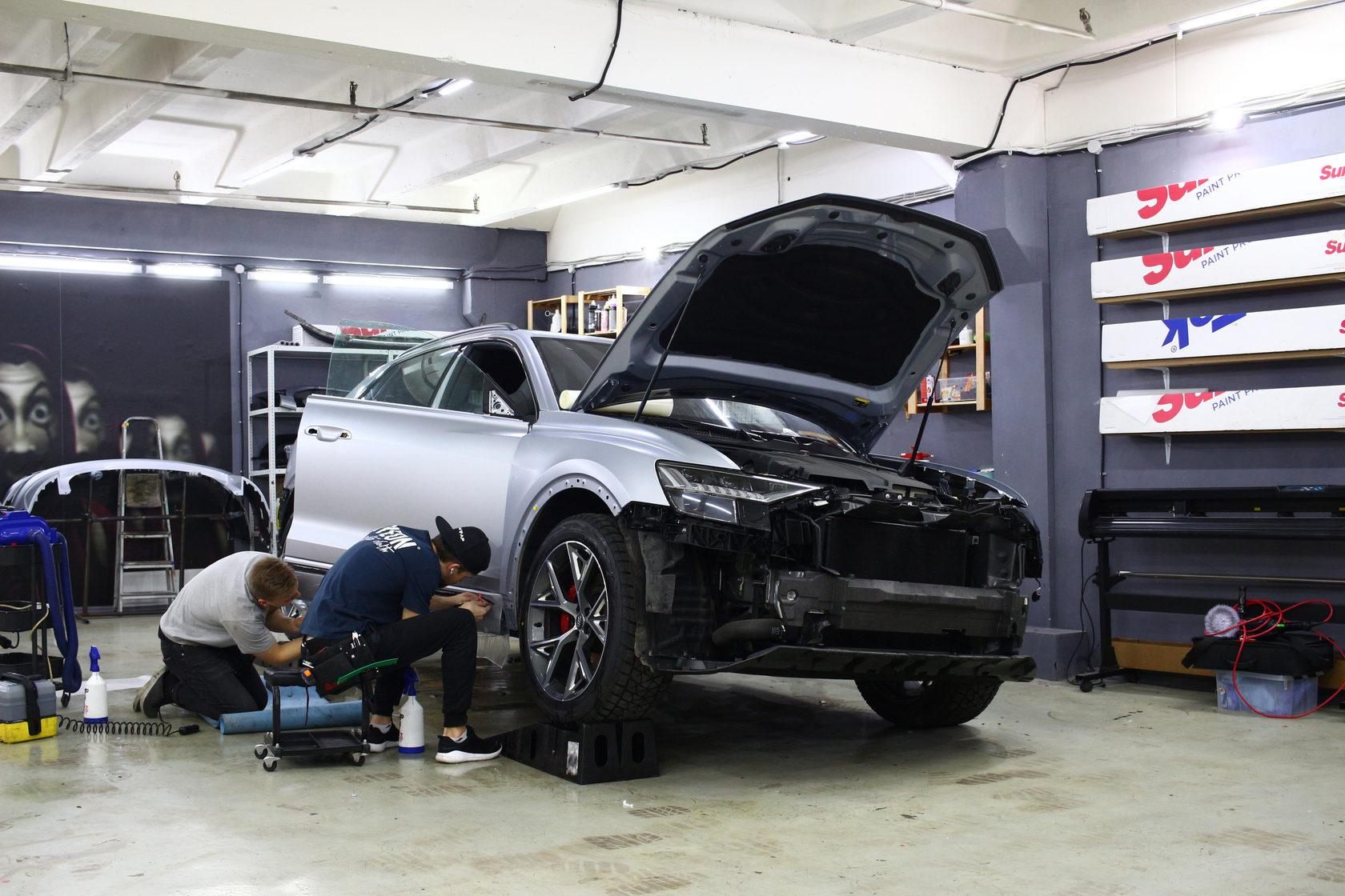 Audi q8, матовая пленка для авто, защитная пленка, detailing geeks, детейлинг гикс, антигравийная пленка, бронепленка, защита от сколов
