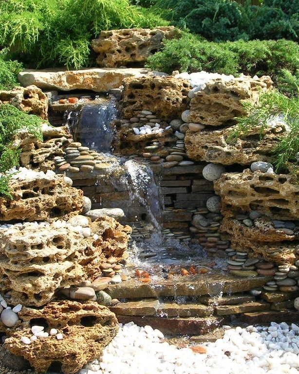 фонтан из ракушечника