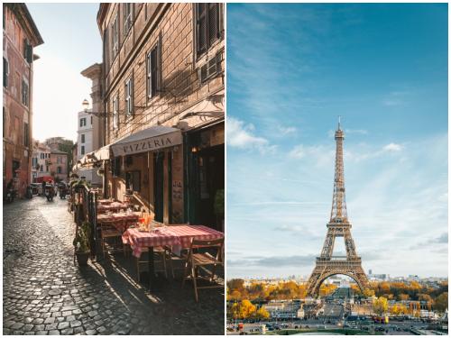 Рим и Париж в январе