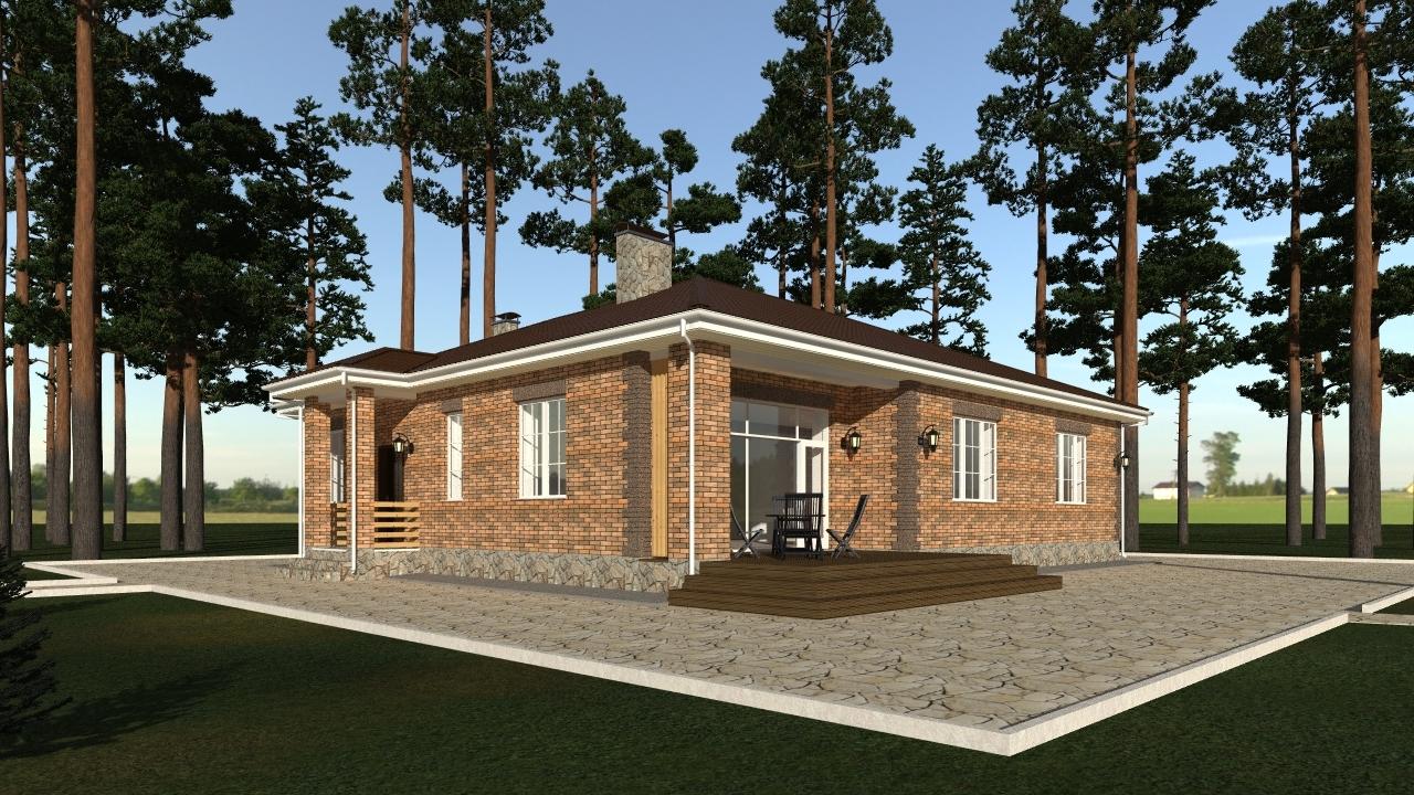 Проекты одноэтажных больших домов и коттеджей