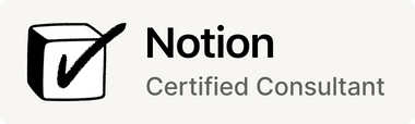 Notion Certified Consultant badge