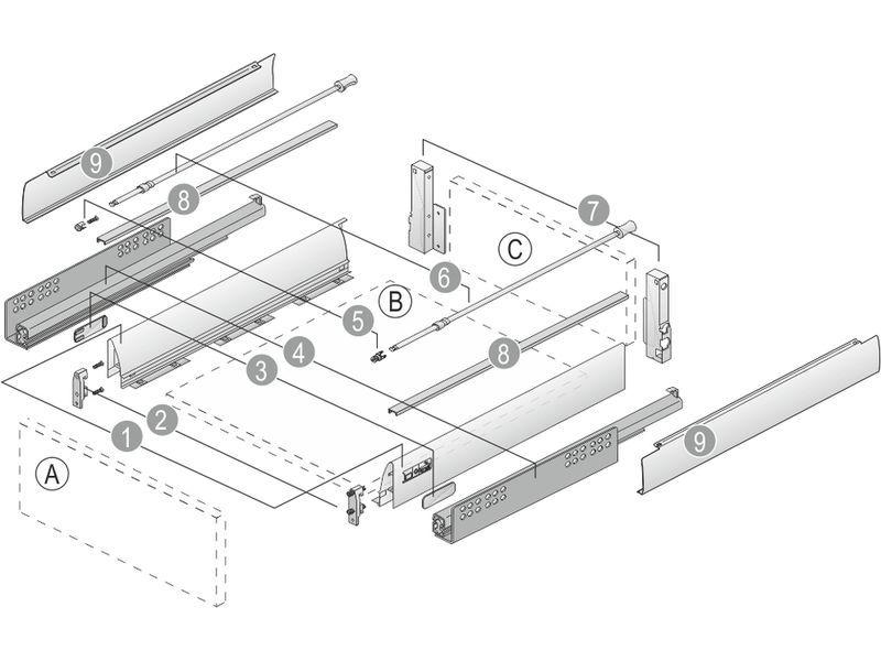 Схема фурнитуры Blum