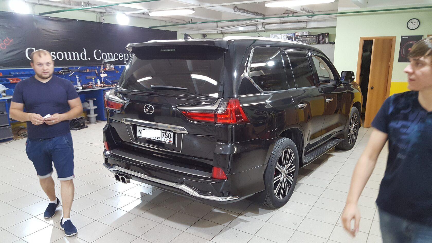 lexus lx установка автозвука