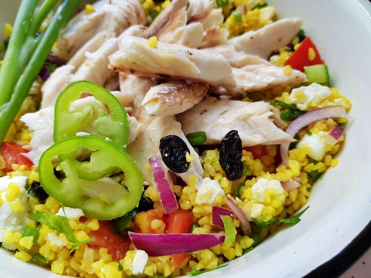 Салат табуле с рыбой. Фото рецепт. Вкусный Израиль.