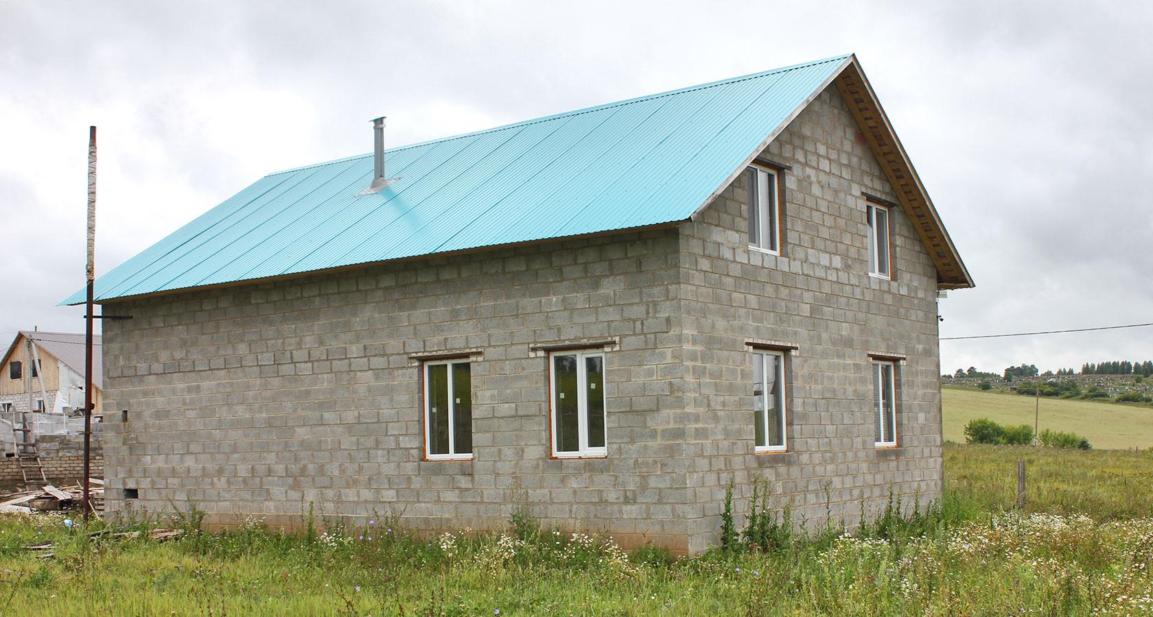 дом из керамзитобетонных блоков 6 на 6