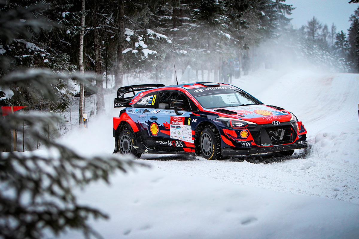 Отт Тянак и Мартин Ярвеоя, Hyundai i20 Coupe WRC, Otepää Talveralli 2021