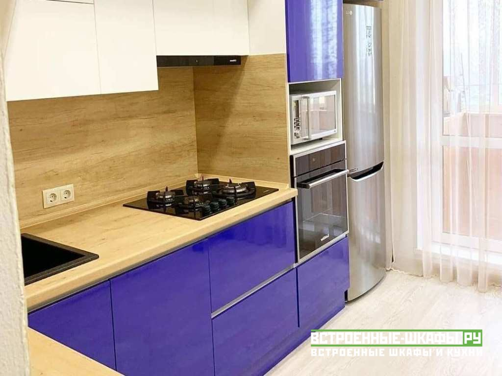 Встроенная кухня на заказ в стиле модерн по индивидуальному заказу