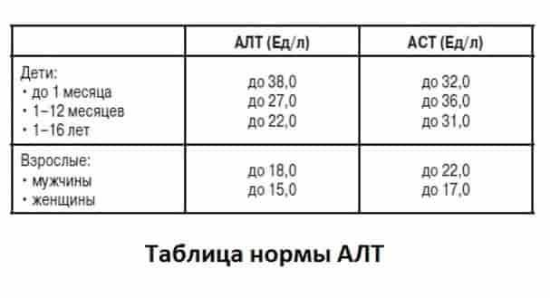 антитела к вирусу гепатита с таблица нормы алт аст