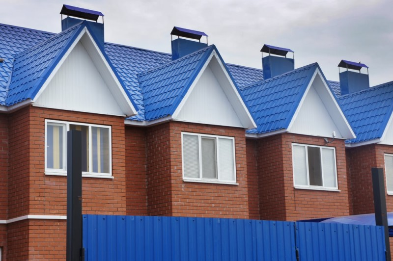 металлочерепица синяя фото домов ограничения