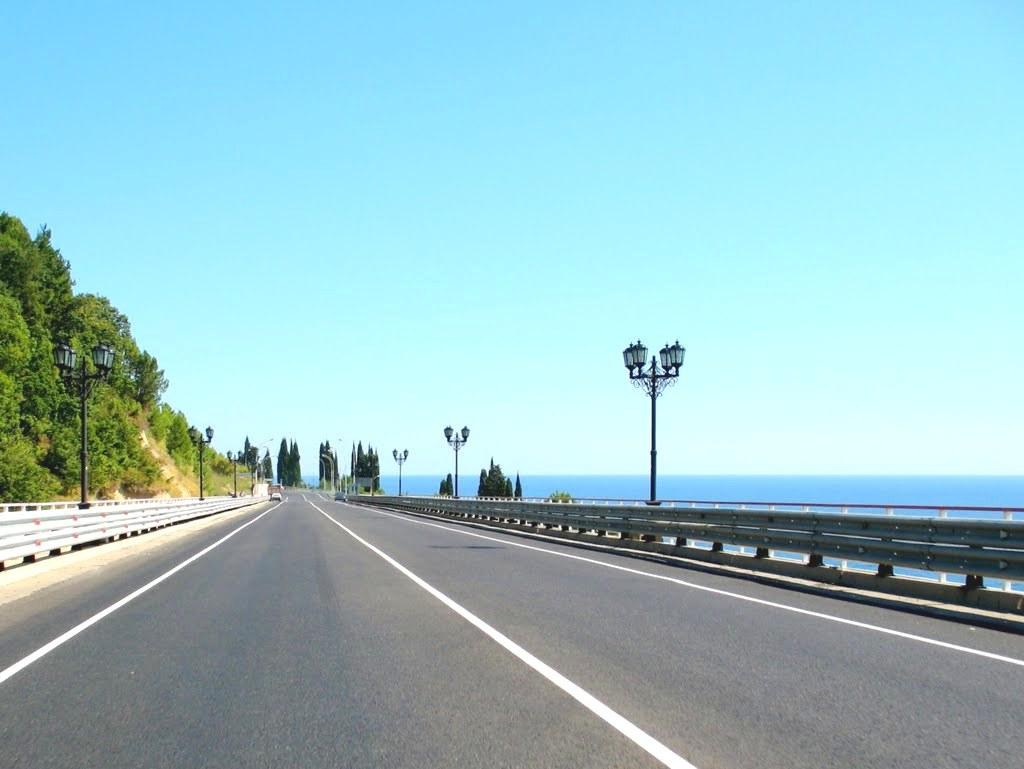 Дорога по маршруту Анапа - Лермонтово