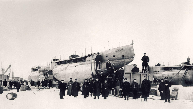 Русско-японская война. Подводная лодка «Налим»
