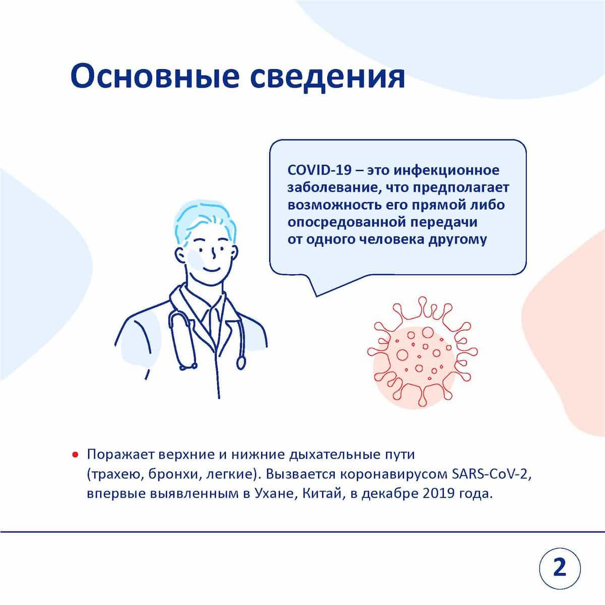 основные сведения про коронавирус