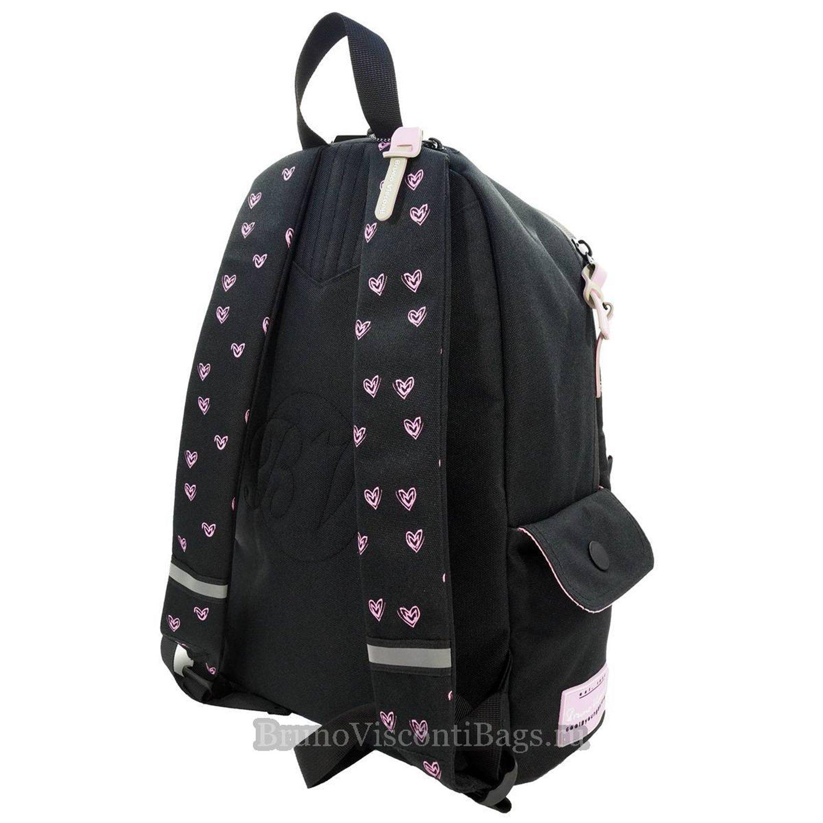8564be1c08b3 Школьный рюкзак BrunoVisconti Girls черный (Teens)