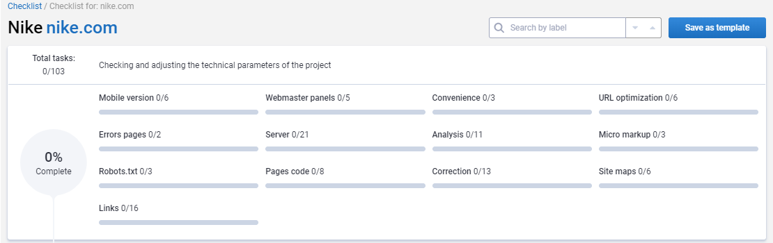 Checklist: Step-By-Step Work With Serpstat Projects