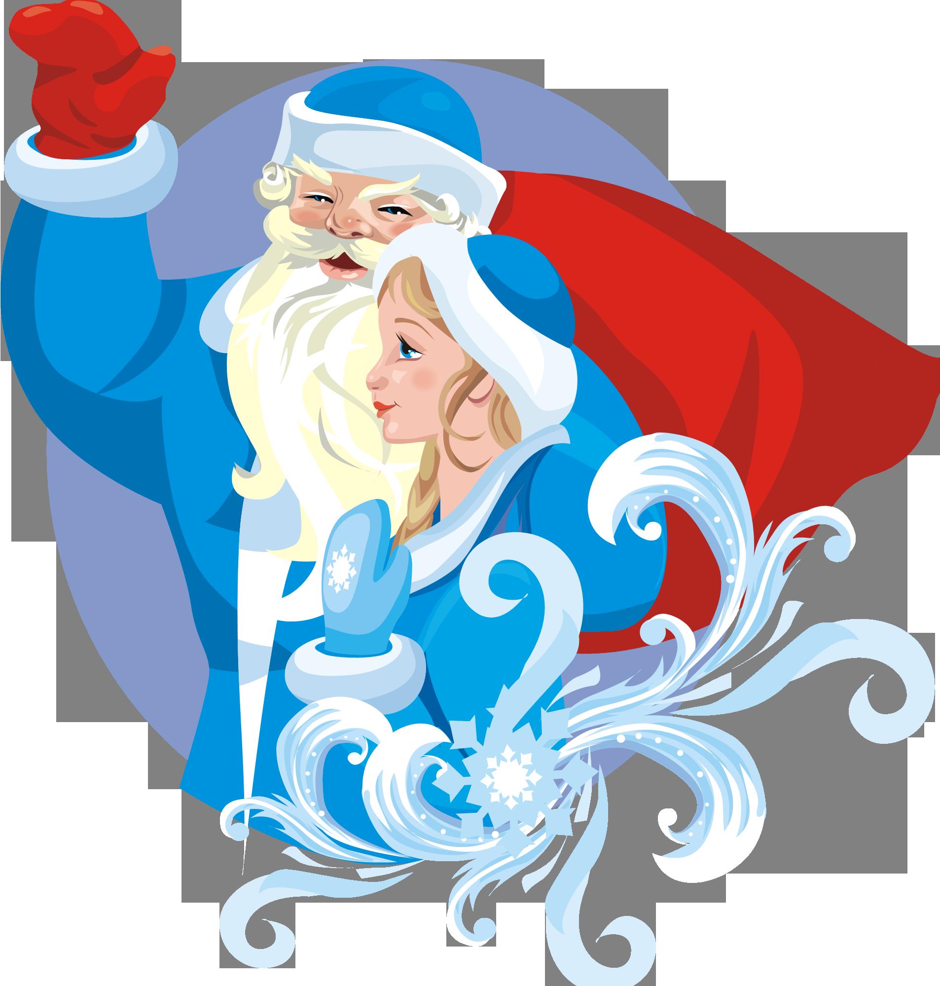 Новогодние поздравления от Деда Мороза и Снегурки