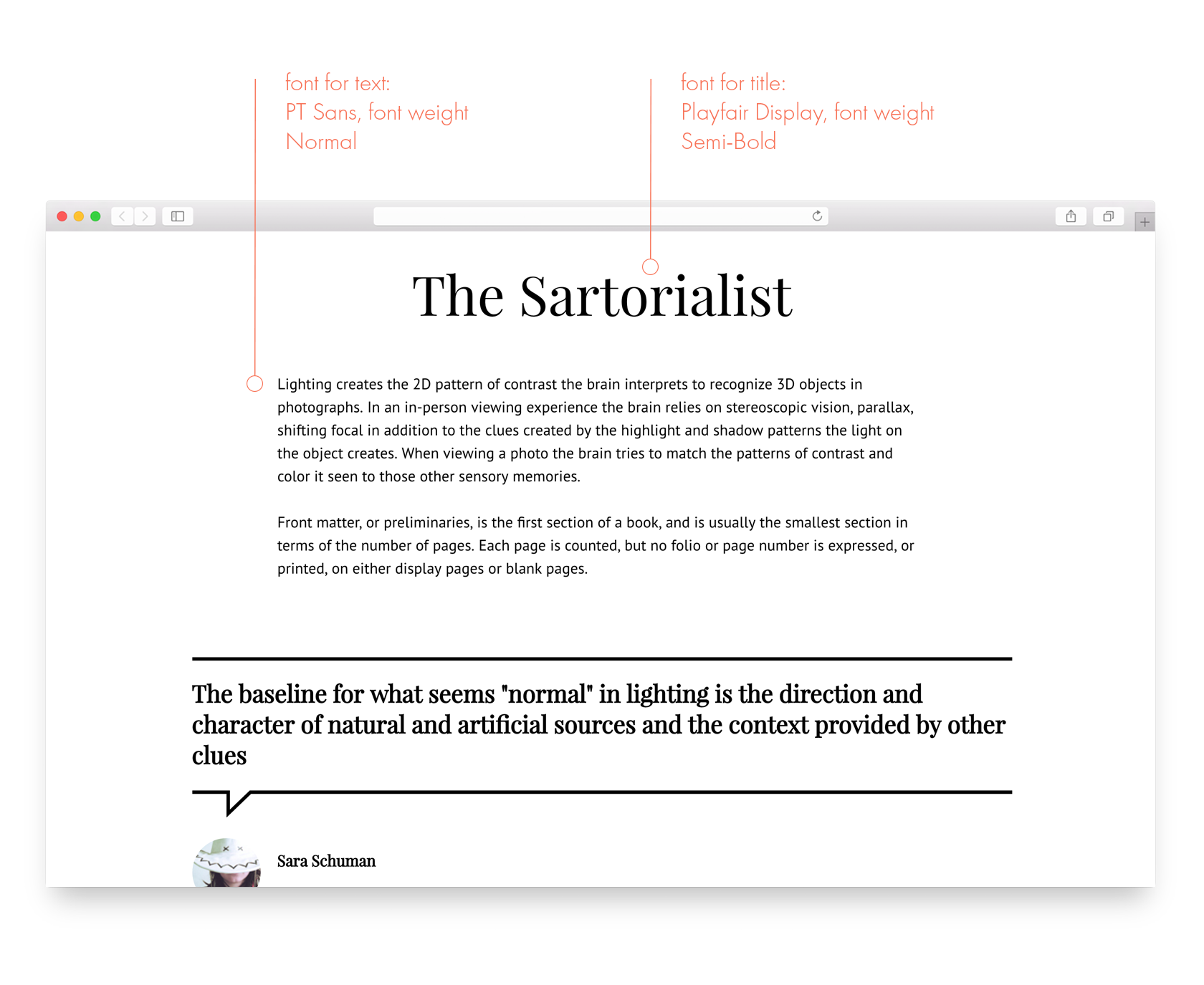 How to choose a font for a website or article