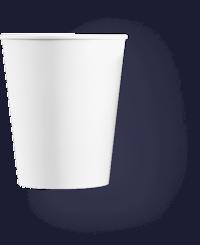белый бумажный стакан