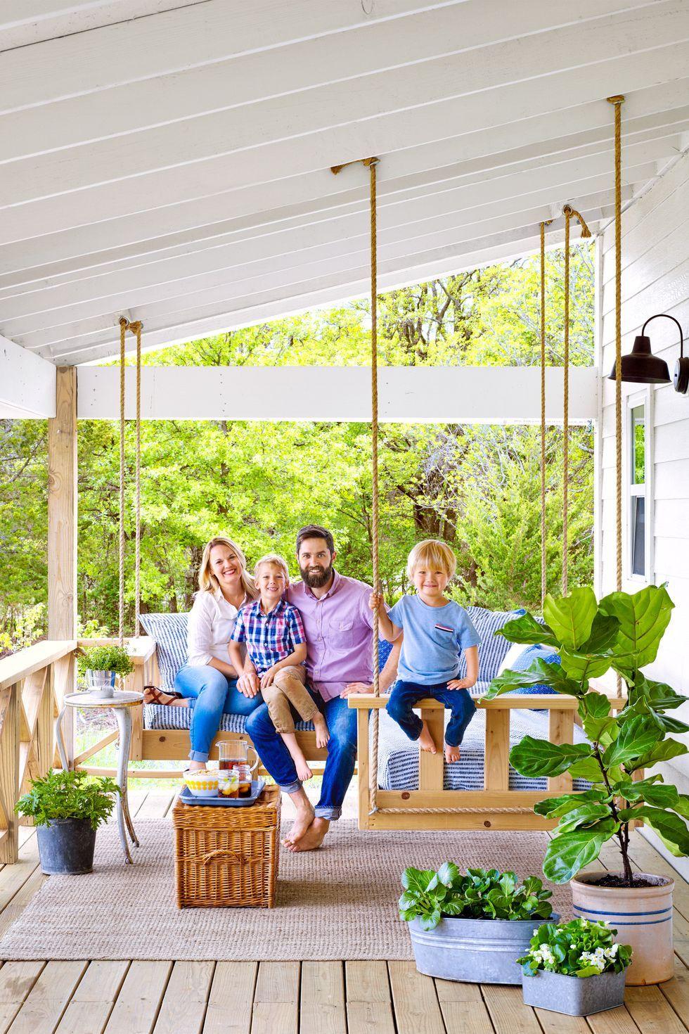 картинки семья летом на даче