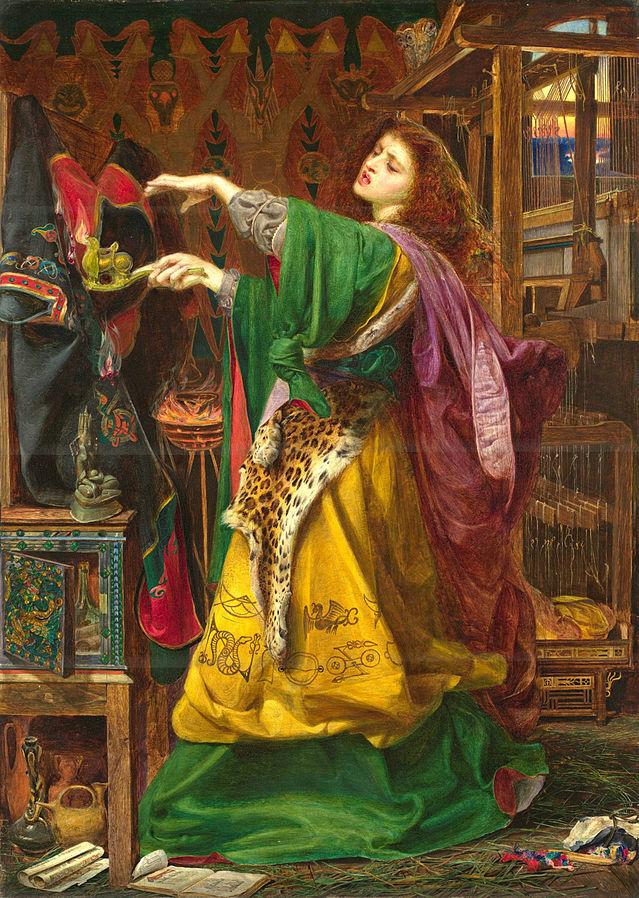 "Dipinto: ""Morgan le Fay"", by Frederick Sandys (1864) Public domain, attraverso Wikimedia Commons"