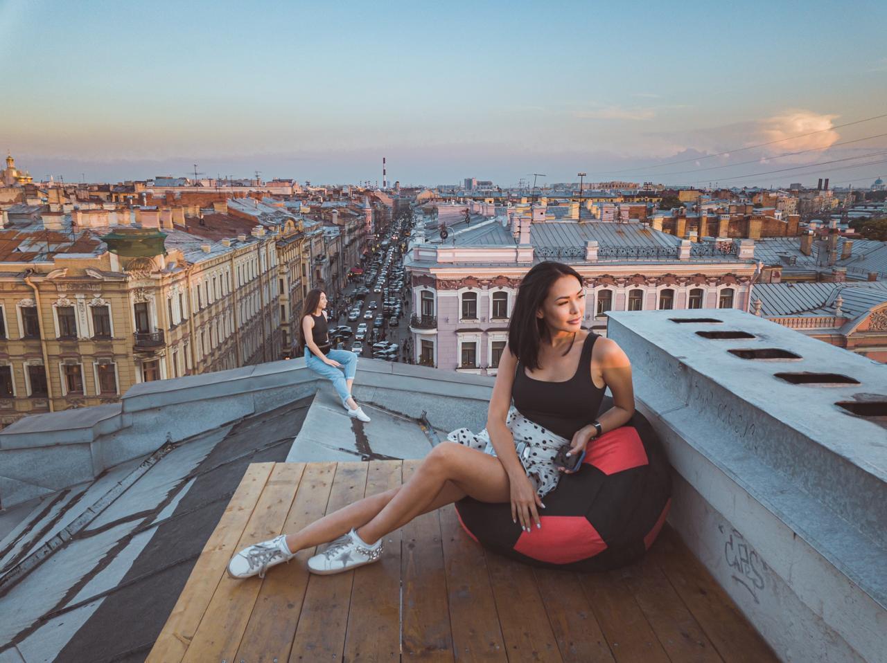 Профессиональная фотосессия в питере на крыше