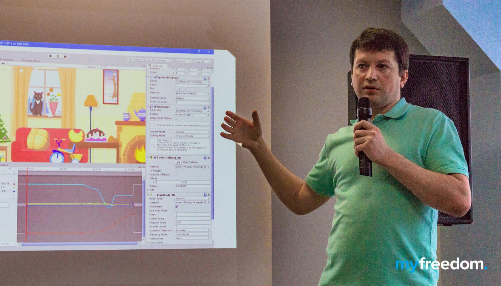 Виктор Лаврентьев на конференция Pro.IT в Бресте. Myfreedom - первая IT-школа в Бресте