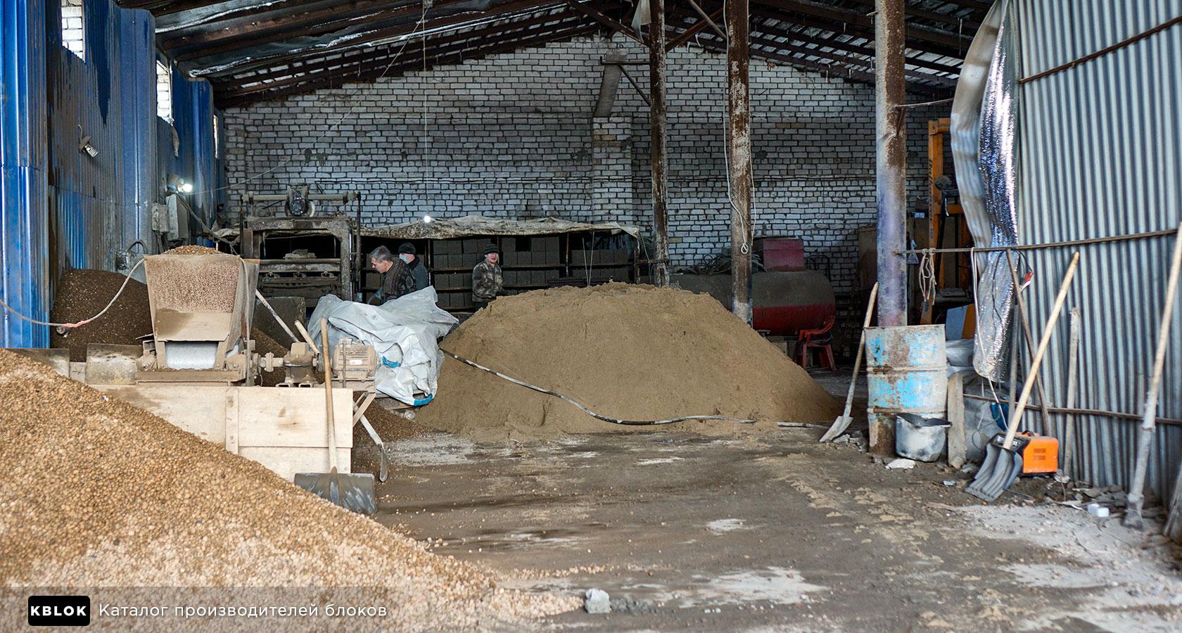 общий вид производства керамзитоблоков