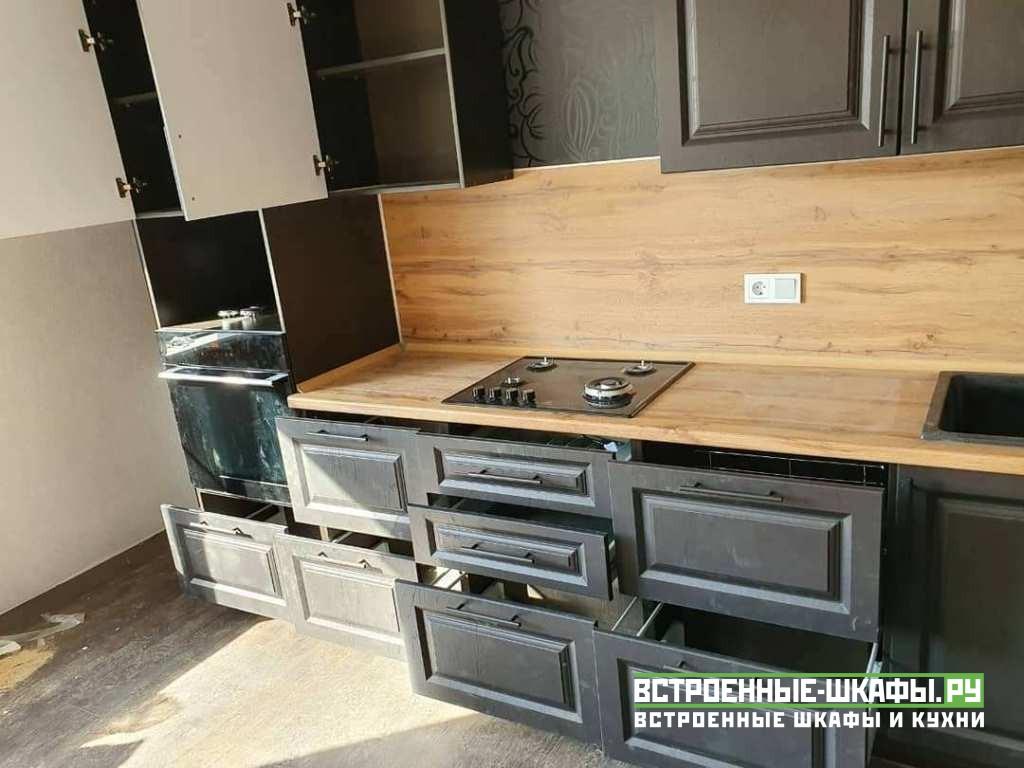 Кухня по индивидуальному заказу с фасадами МДФ в пленке ПВХ