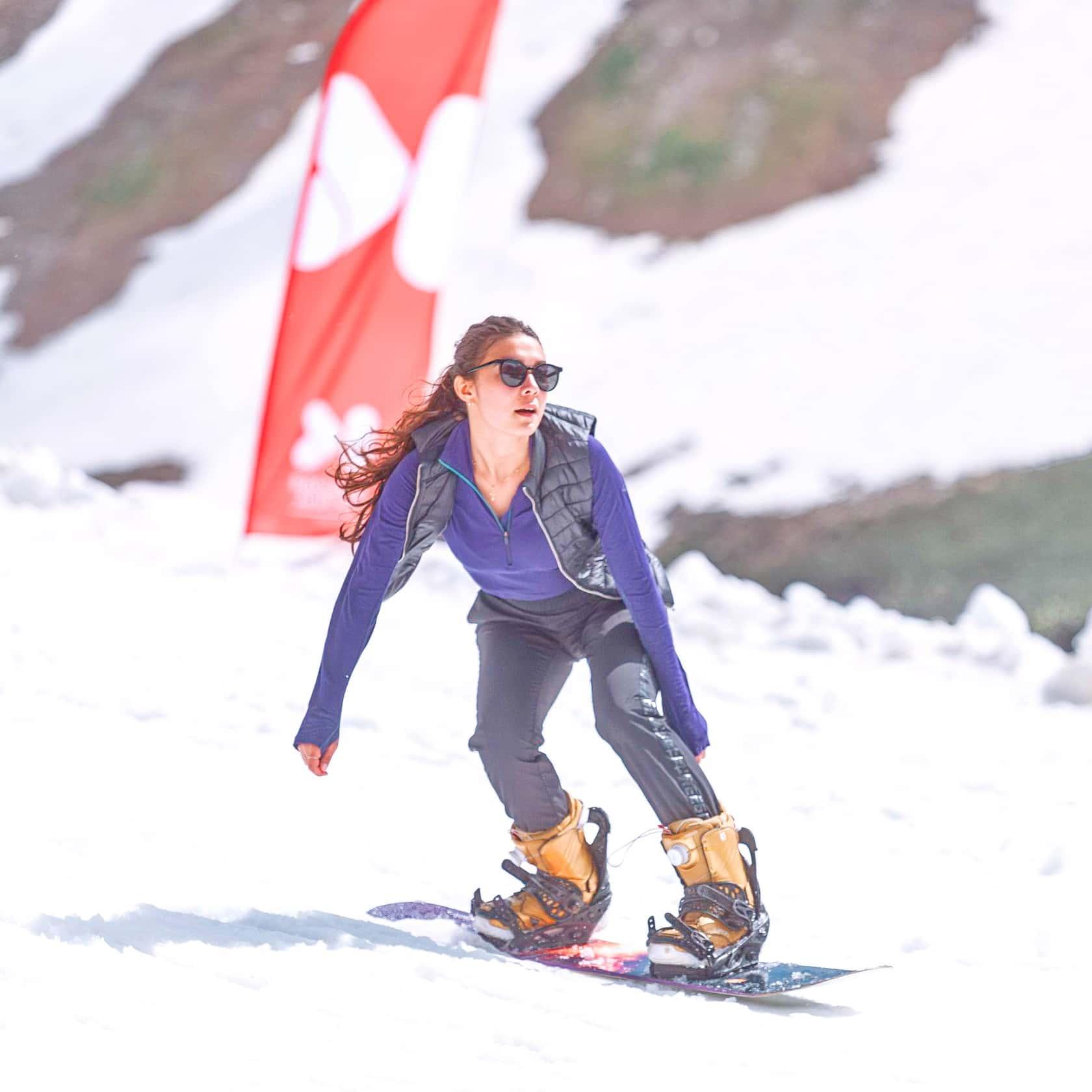 сноубордист на Bonus Summer Camp