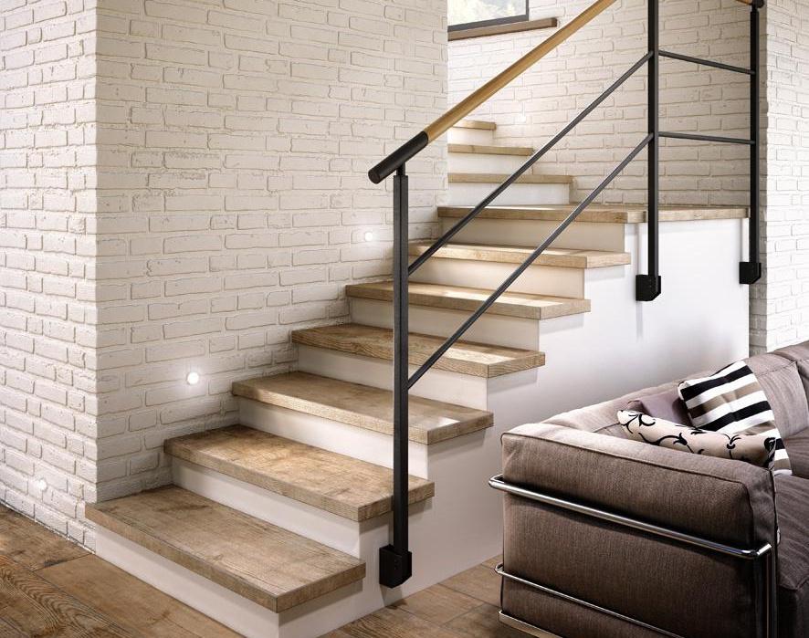 варианты покрытия лестницы фото