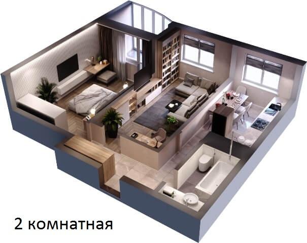 жк россинский парк краснодар 2 комнатная