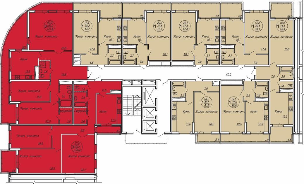Планировки квартир ЖК Маршал