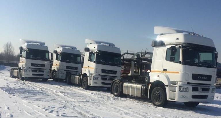 Партия тягачей КамАЗ поставлена Региональной экспедиционной компании в лизинг по госпрограмме «Российский тягач» (фото: «КамАЗ»)