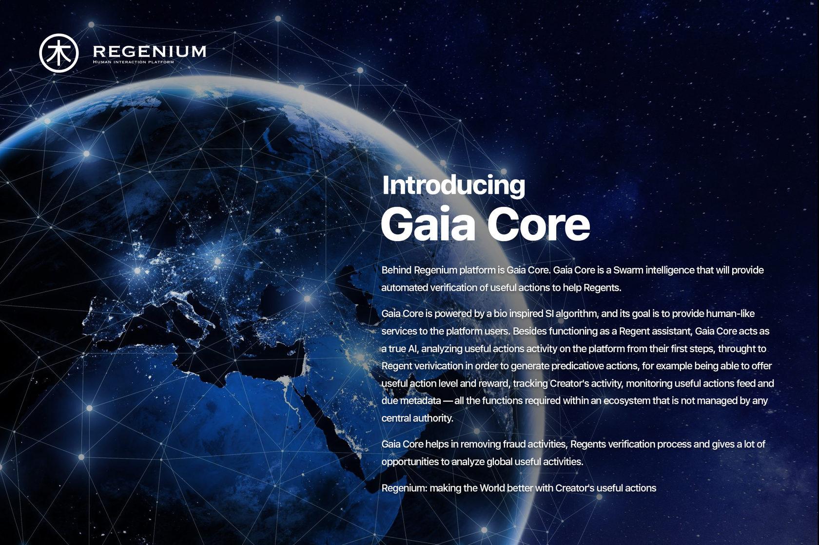 Regenium - Human interaction platform