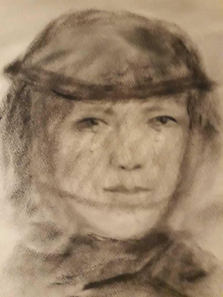 Таран Ирина / тема «Одиночество» / уголь