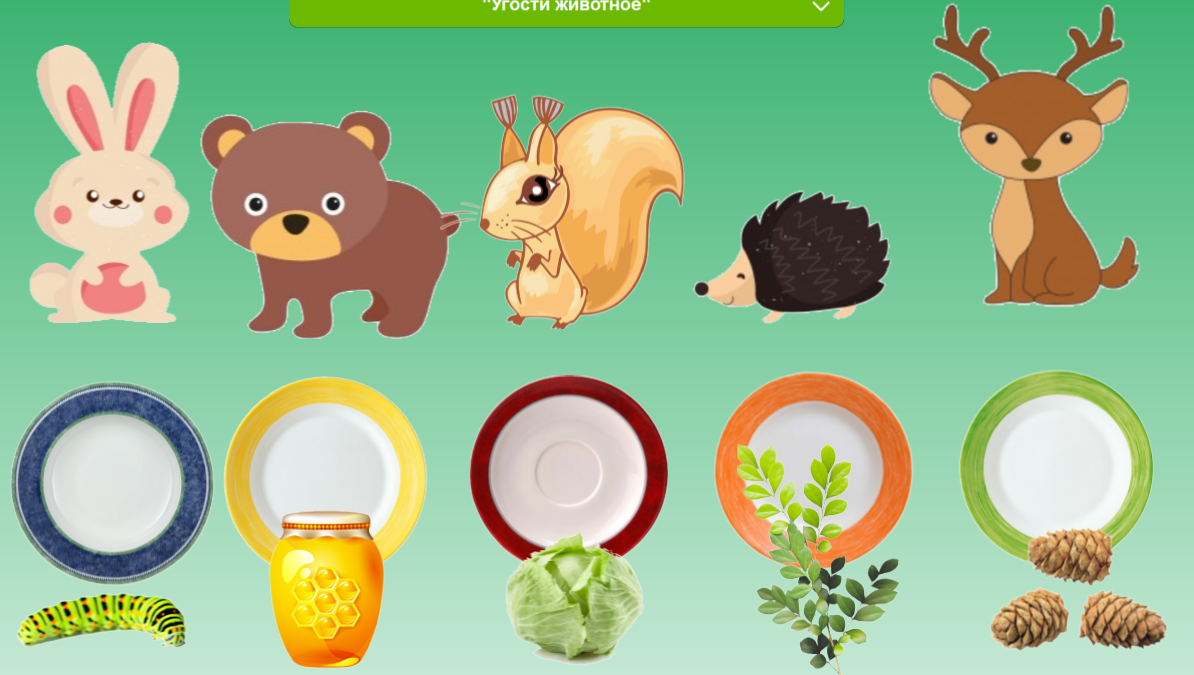 Картинка накормим животных