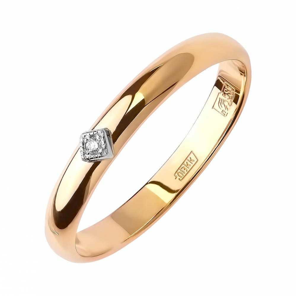 Кольцо обручальное с камнями