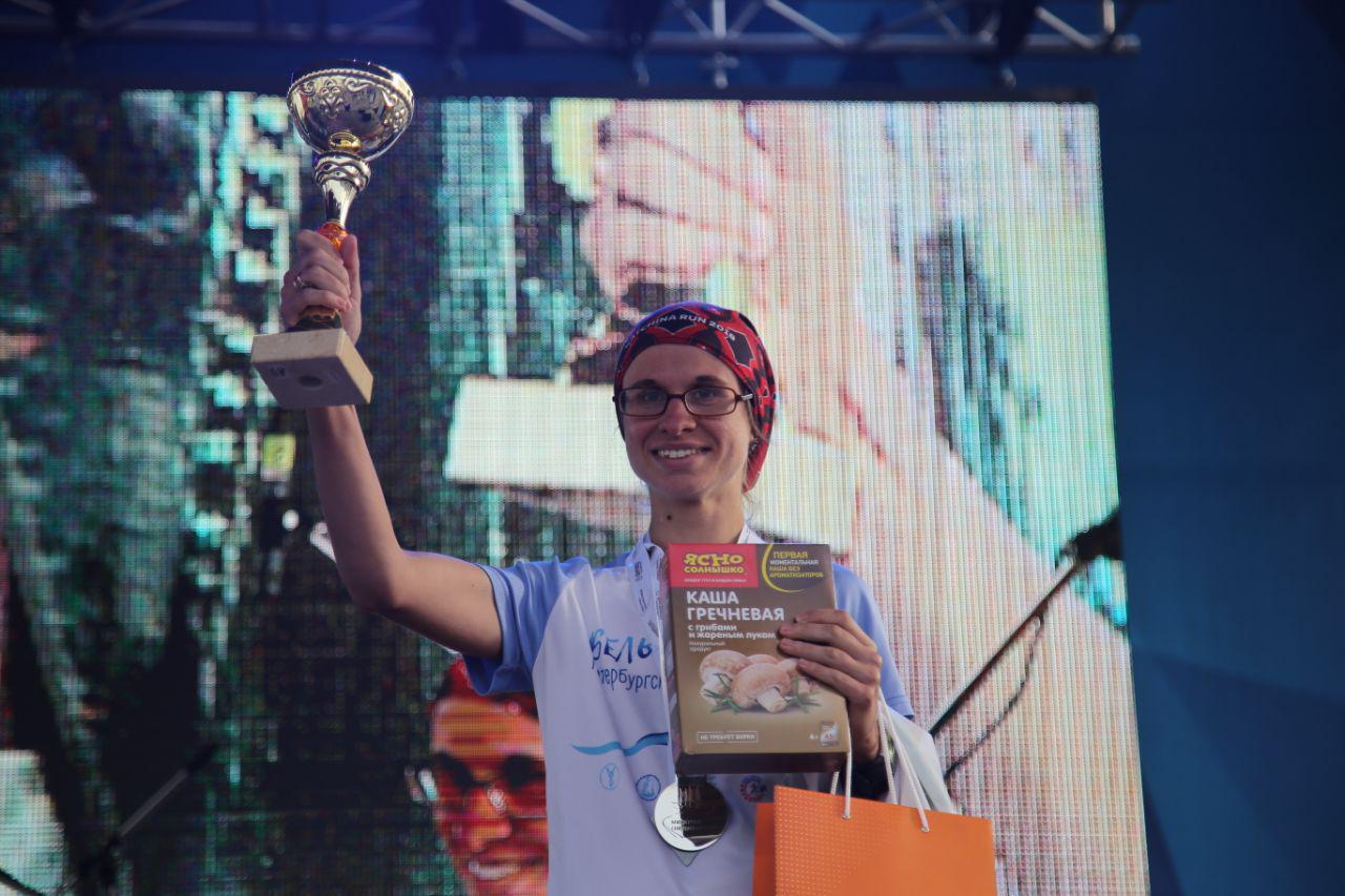 Награждение абсолютов в беге на 10,5 км на втором ЗСД Фестивале, Бугаева Ольга