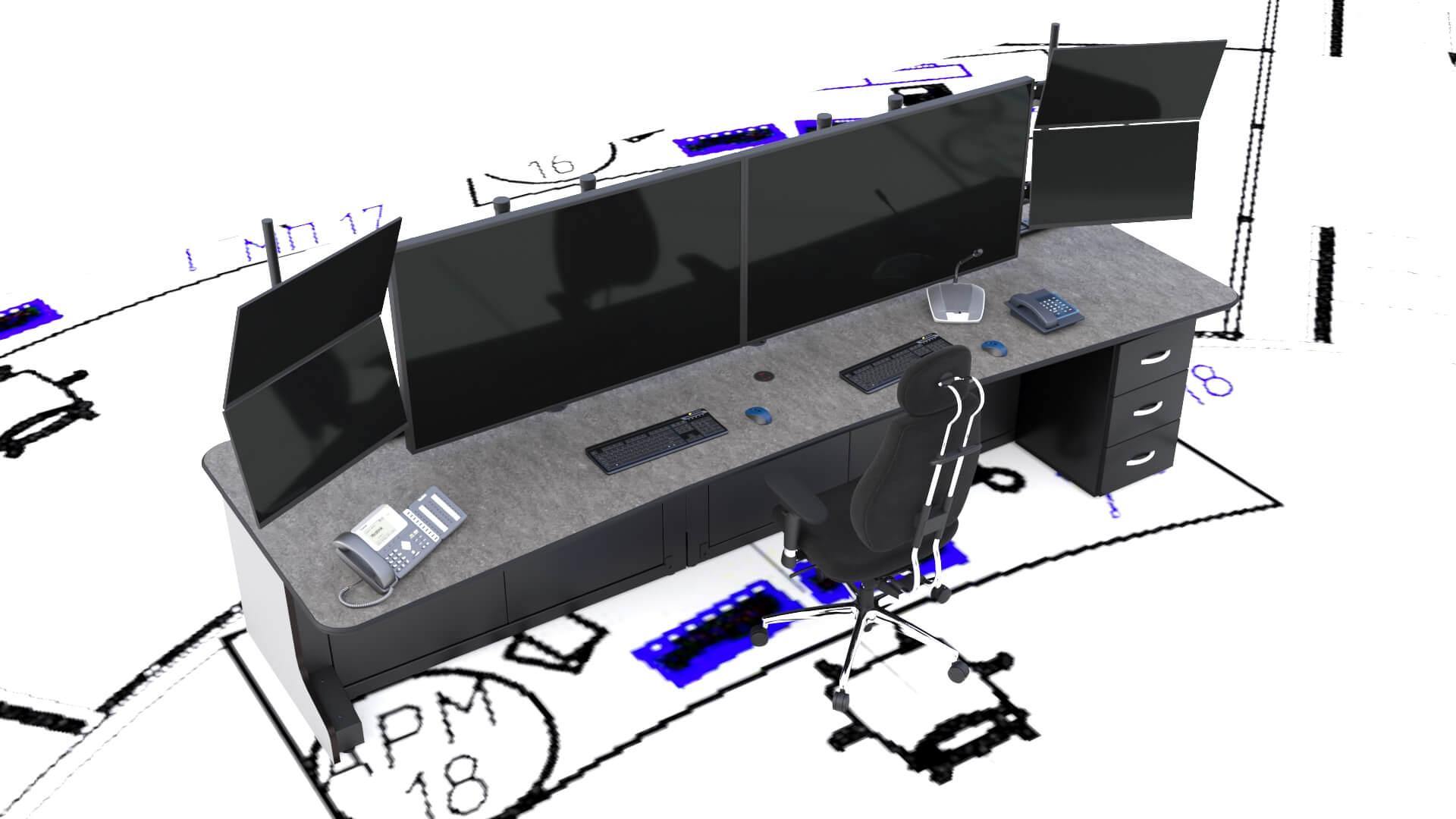Как правильно выбрать диспетчерскую мебель для оператора