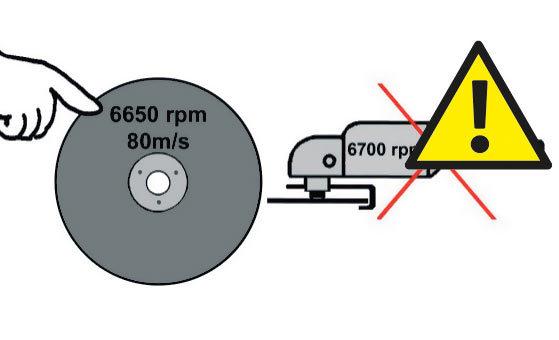 Не использовать диск, скорость которой ниже скорости, указанной на машине.