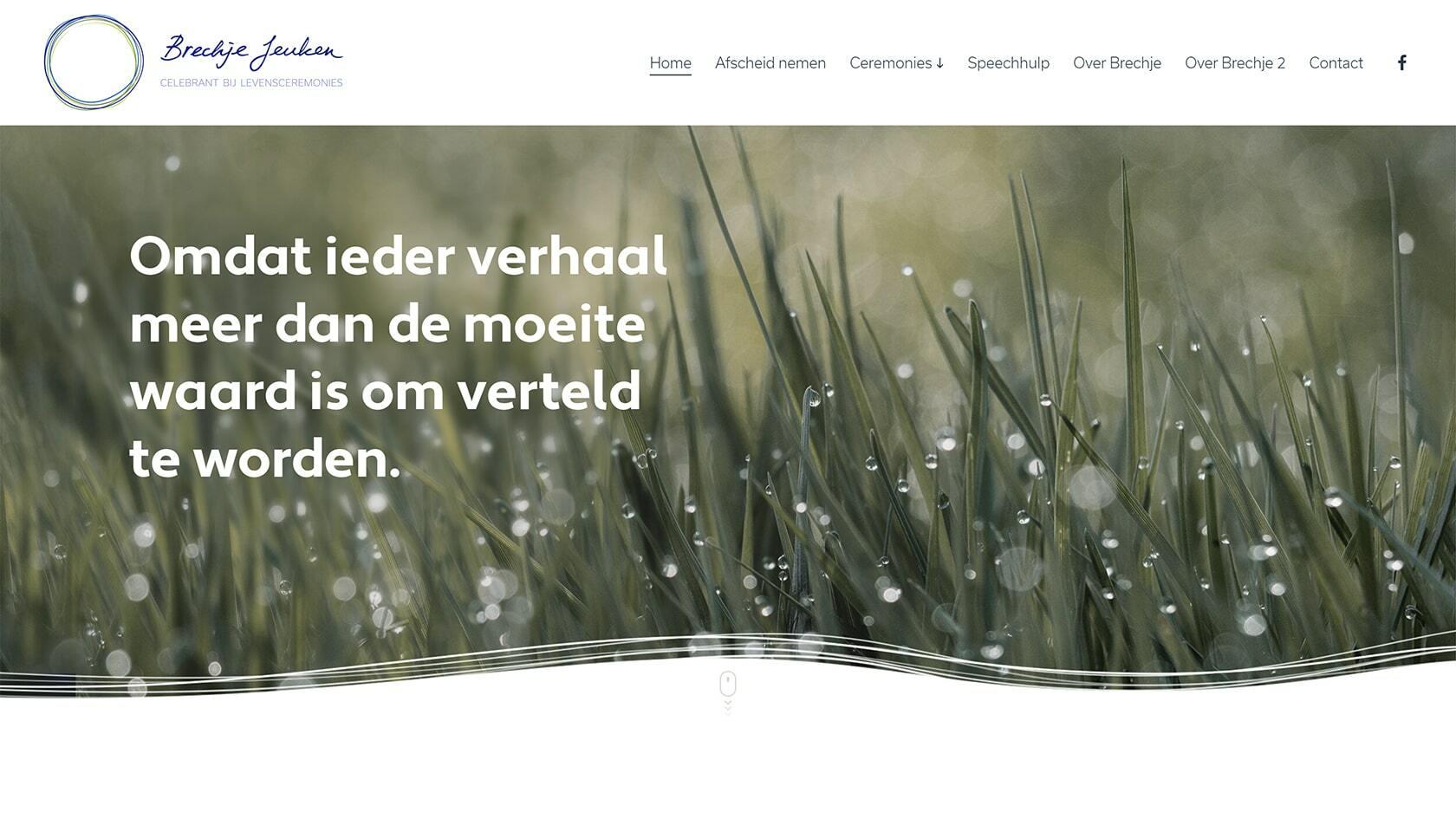 Website ontwerp Brechje Jeuken