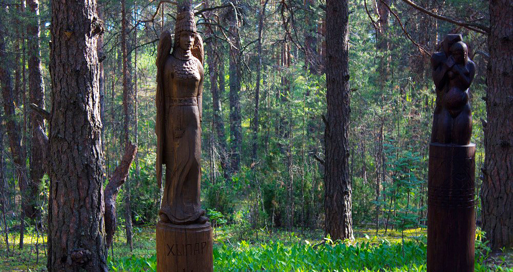Скульптура Хыпар в парке «Сувар»